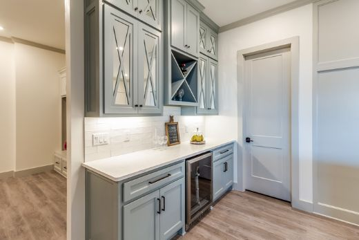 classic blue cabinetry in kitchen | Carpenters Gold Coast