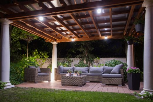 beautiful outdoor patio protected by a pergola | Carpenters Gold Coast